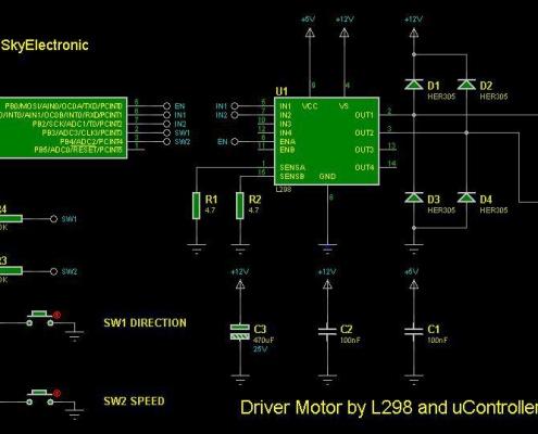 مداری با قابلیت تغییر سرعت و جهت چرخش موتور