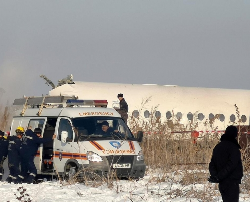 سقوط هواپیما در قزاقستان