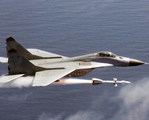 سقوط هواپیمای میگ29