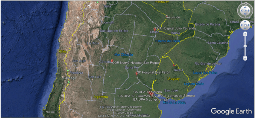 ساخت بیمارستان اضطراری در آرژانتین با کمک پهپاد
